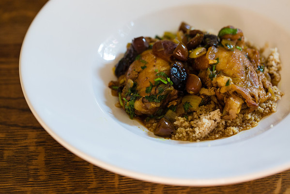 Apricot, Plum, and Chicken Tagine with Olives