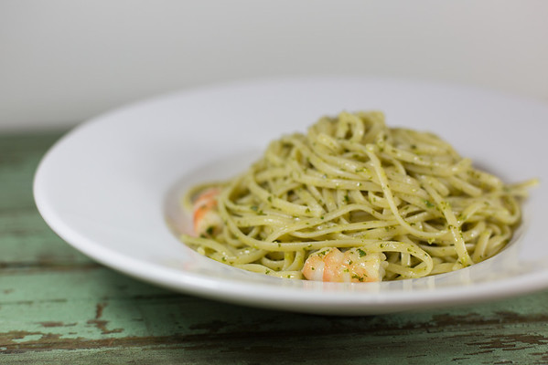Pasta with Shrimp and Cilantro Lime Pesto