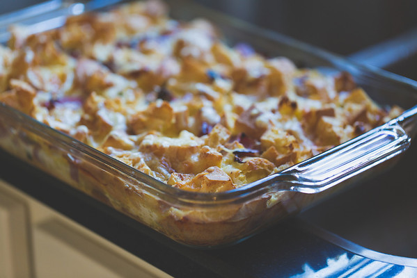 Ham and Swiss Bread Pudding