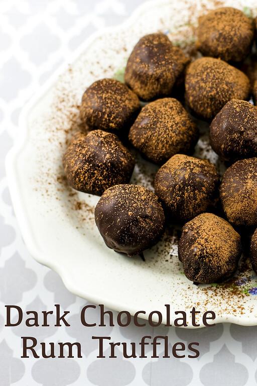 Dark Chocolate and Rum Truffles
