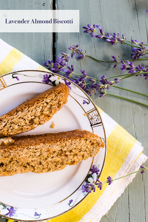 Delicate floral lavender pairs beautifully with almonds in this easy Lavender-Almond Biscotti