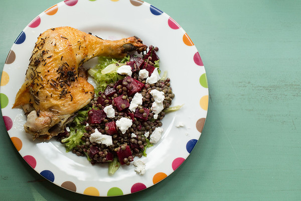 French Lentil and Roasted Beet Salad