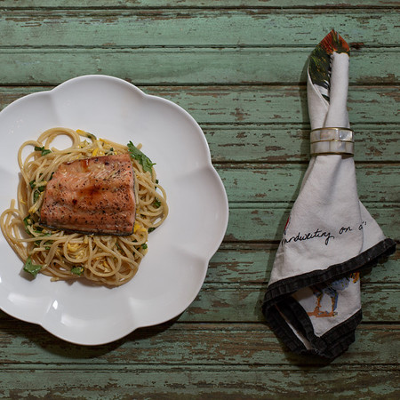 Honey-seared Salmon with Coriander Noodles