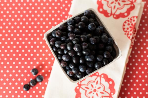 Blueberries for blueberry vinegar