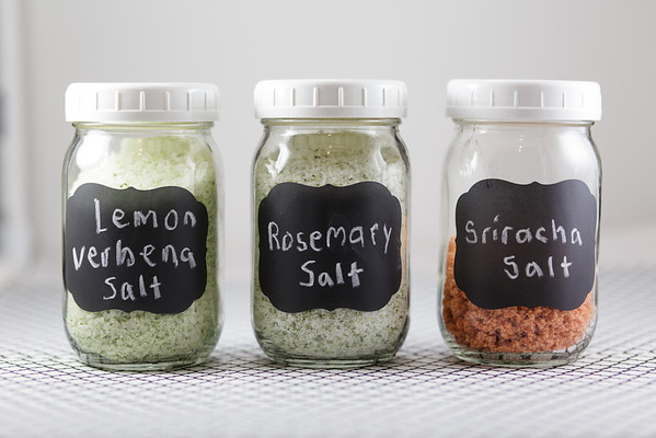 Lemon Verbena Salt Rosemary Salt and Sriracha Salt