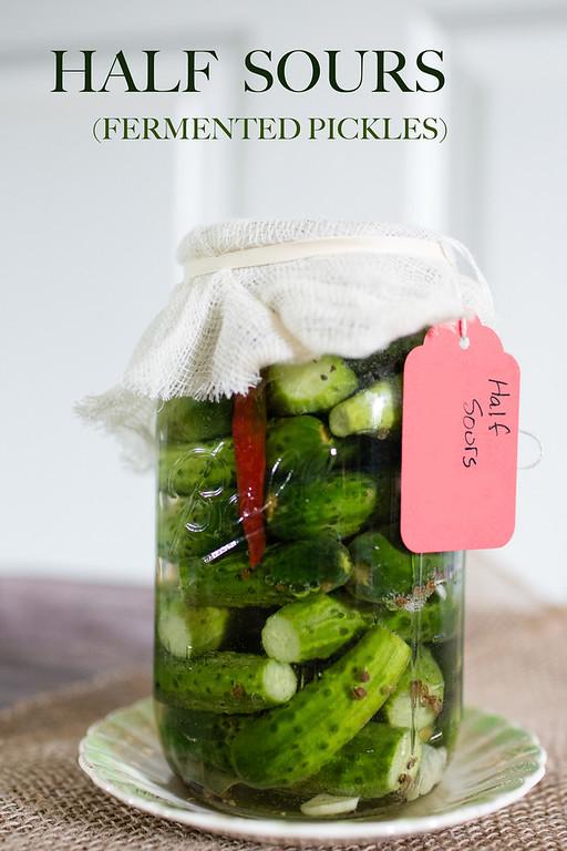 Half Sours - Fermented pickles - fementation