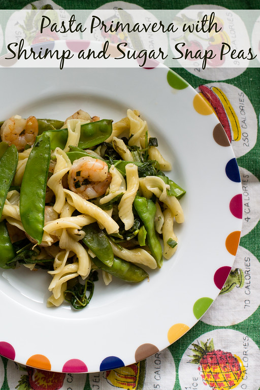 Pasta Primavera with Shrimp and Sugar Snap Peas