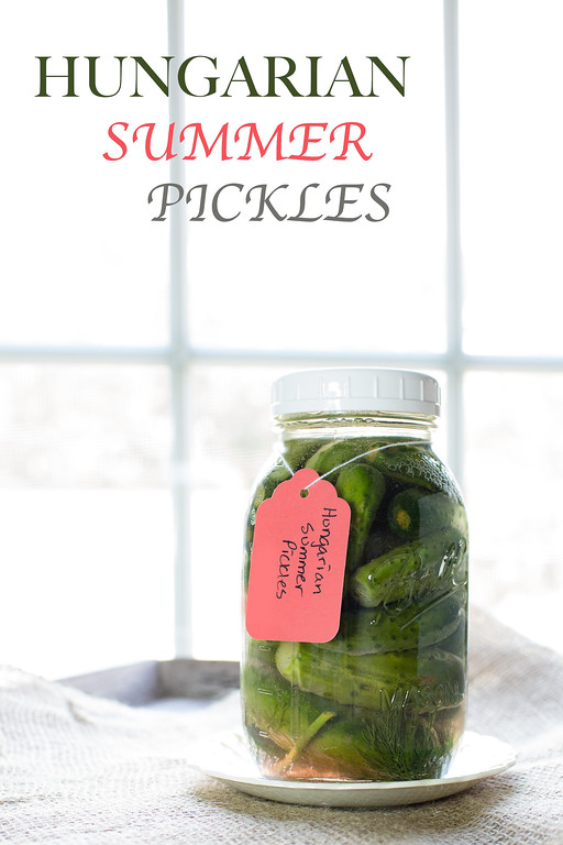 Hungarian Summer Pickles - Fermented Pickles