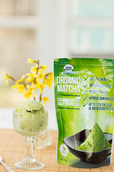 Matcha Green Tea Frozen Yogurt - creamy, delicious, and good for you! What more could you ask for?