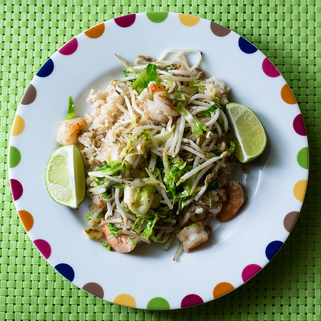 Spicy Shrimp and Brussels Sprout Stir Fry