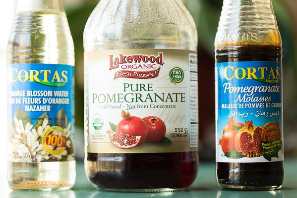 Ingredients for Homemade Grenadine