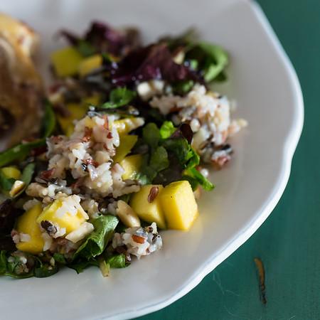 Thai Mango Grain Salad - spicy Thai flavors in a light and refreshing salad!