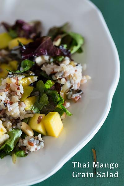 Thai Mango Grain Salad - a light and refreshing main dish or side dish salad!