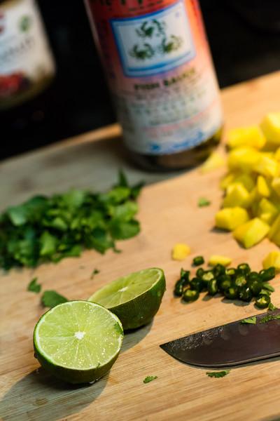 Preparations for Thai Mango Grain Salad