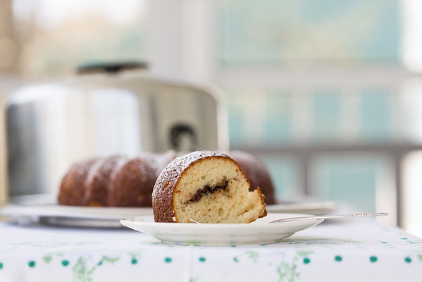 Sour Cream Boozy Hazelnut Bundt Cake - a sweet little hidden surprise.