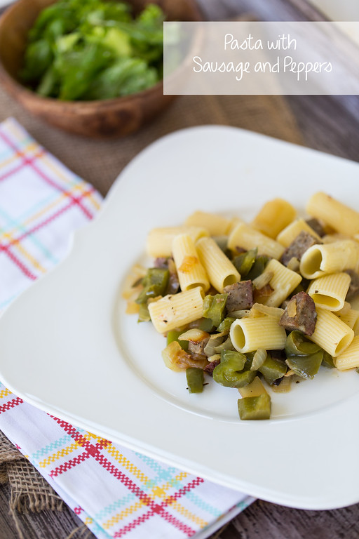 Pasta with Sausage and Peppers - the classic combo on pasta instead of a hoagie!