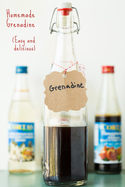 Homemade Grenadine - this is how it's supposed to taste! So easy and delicious! www.sidewalkshoes.com