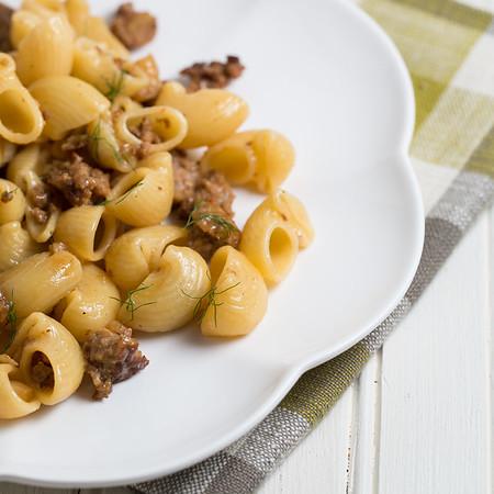 Pork Sausage and Caramelized Fennel Pasta