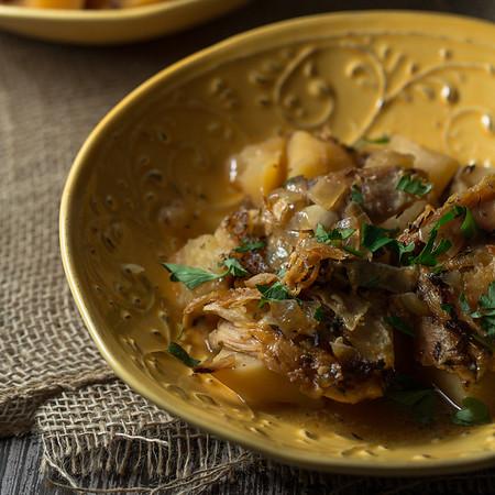 Crock-pot Chicken Vesuvio