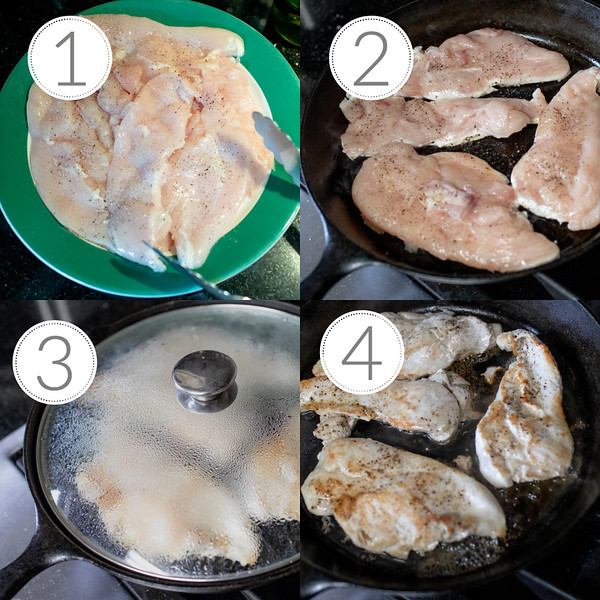 Photos showing step by step how to cook chicken cutlets