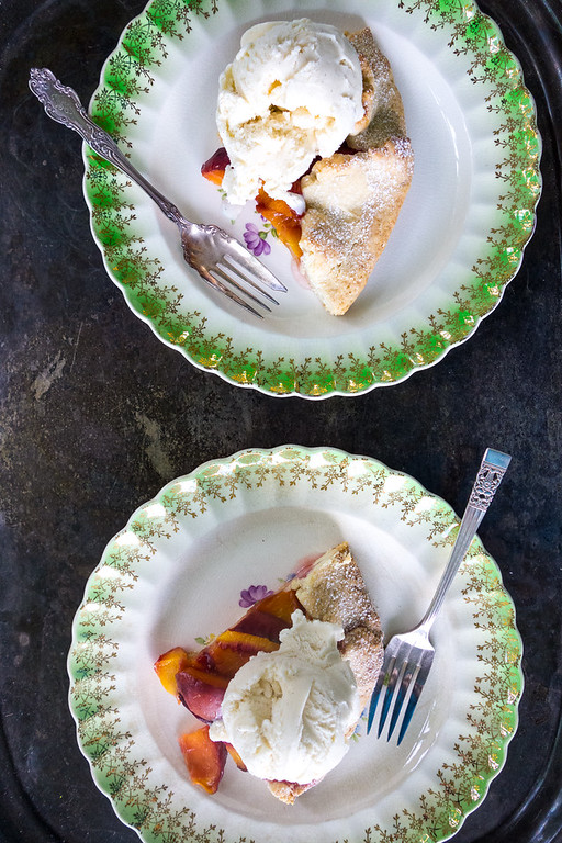 Rustic Peach Tart - so easy you'll make it over and over again!