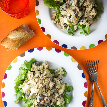 Curried Chicken Salad on a plate