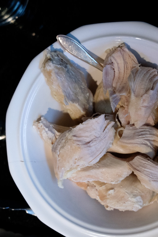 Frozen chicken breasts in an Instant Pot