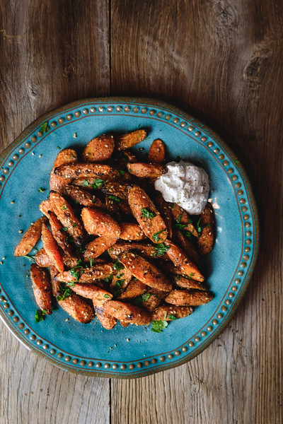 Plate of za'atar roasted carrots