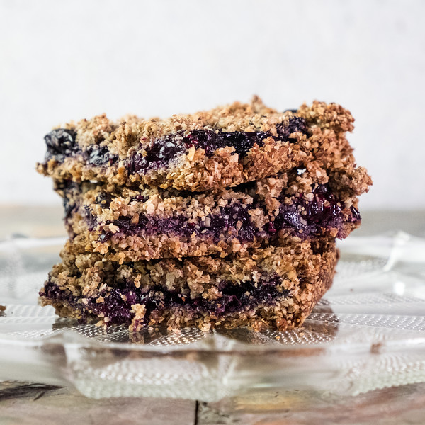 Stack of blueberry bars