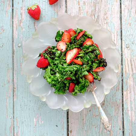 Bowl of kale salad