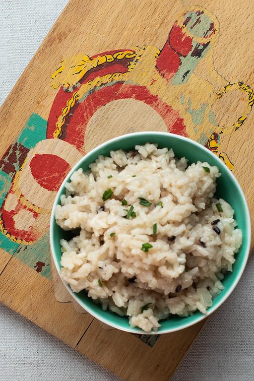 Bowl of parmesan rice.