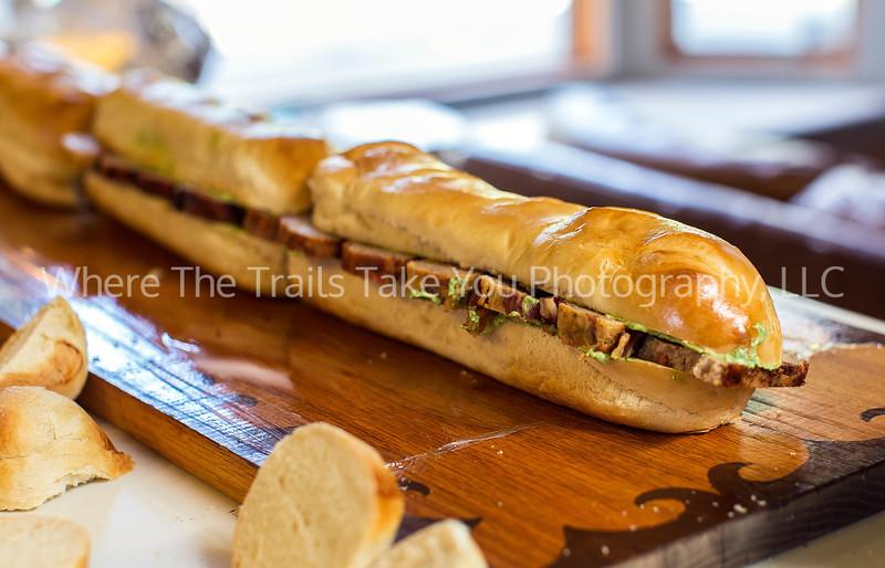 16  Pancetta-Wrapped Turkey Meatloaf Sandwich with Arugula Mayo