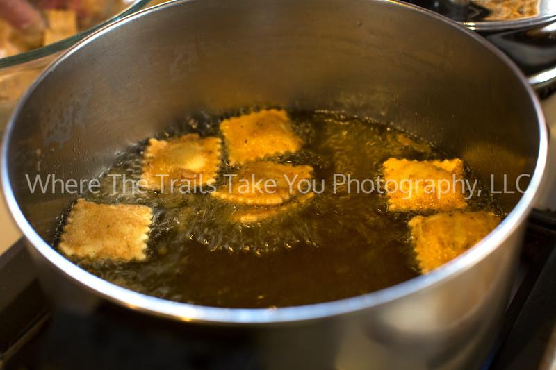 75  Frying Ravioli