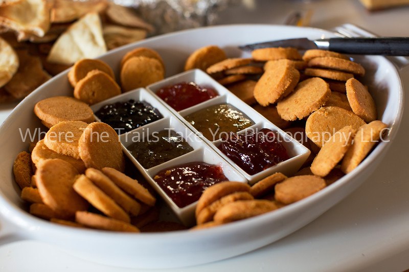 74  Spicy Cheese Coins and Pepper Jellies