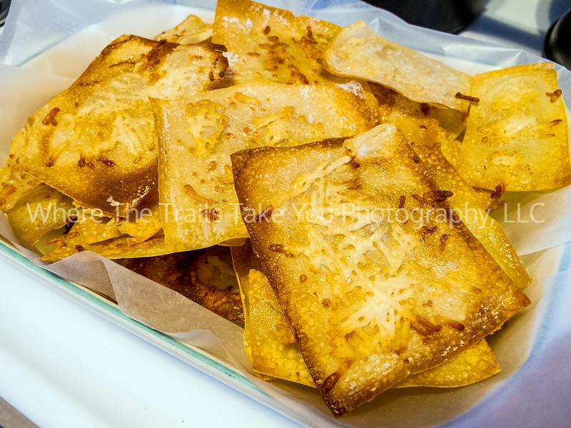26  Finished Product:  Crispy Buttered Wonton Wrappers With Romano Cheese