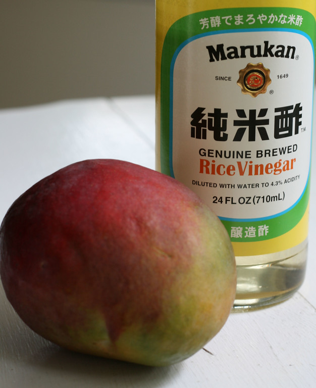 Mango and Rice Vinegar to make Mango Vinegar