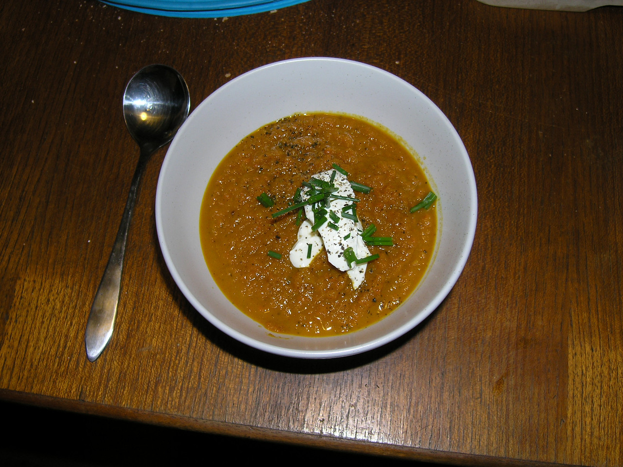 Holly's carrot and ginger soup