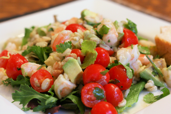 Barley Shrimp Salad