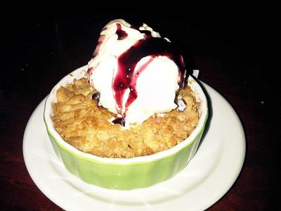 "Apple Crumble. C$5.99.  Served in ""The Bungalow"" in London, Ontario  31/01/11"