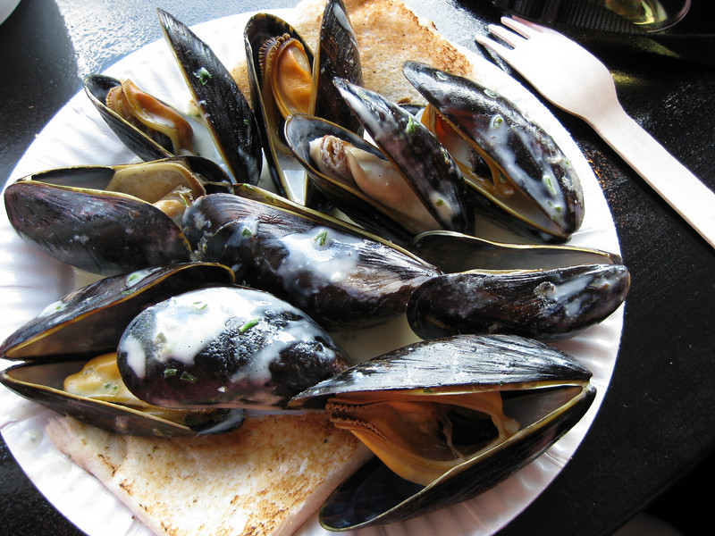Mussels with Ricard and cream