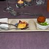 """Proevertje van de chef""<br /> Kingkrab-slaatje, Wortel-bavarois, Champion-frutti<br /> (Gastro-menu 2009-08-15)"