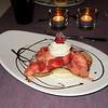 """""""Tulpgebakje met gemarineerde aardbeien en vanille roomijs""""<br /> (Gastro-menu 2009-08-15)"""