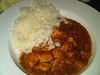 "Chicken Curry - served with rice. £9.45. Served in ""The Penn Inn"" in Newton Abbot  09/12/13"