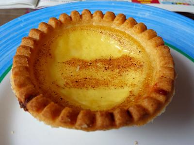 """Custard Tart, from """"Halletts"""" bakery in Torquay  26/09/14"""