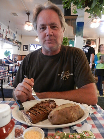 DDD stop T Bone Tom's in Kemah, Texas