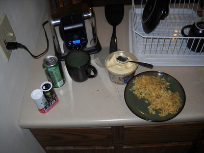 Toaster and Hashbrowns
