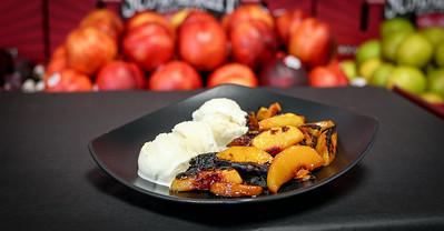 Summeripe Roasted Peaches & Ice Cream
