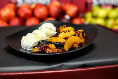 Summeripe Roasted Peaches & Ice Cream