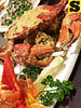 Crab with salted eggs