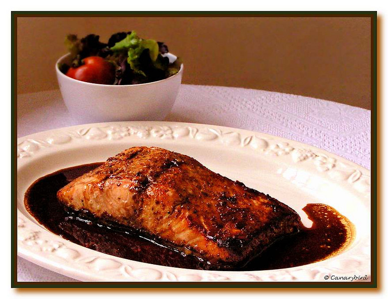 Marilyn's Sauce on my Baked Salmon